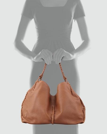 Cervo Large Shoulder Bag, Medium Brown