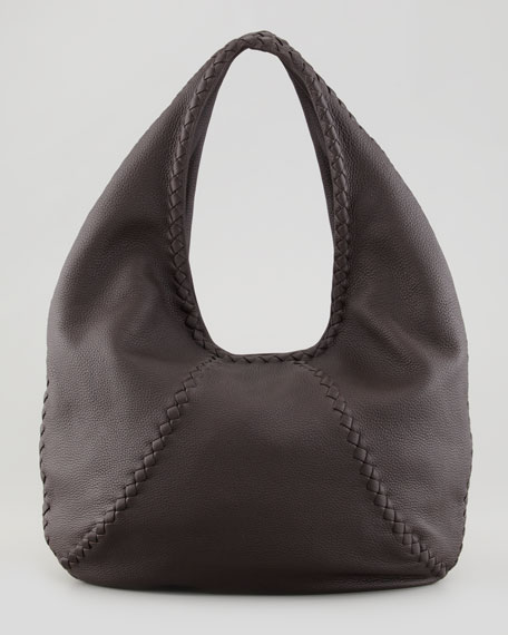 Bottega Veneta Cervo Large Hobo Bag, Espresso