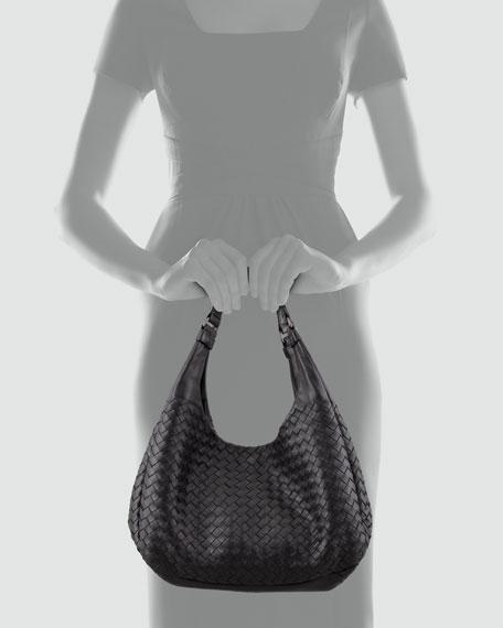 Woven Compania Medium Bag, Black