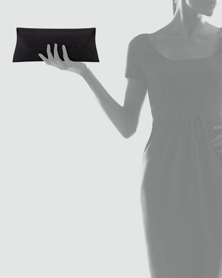 Manila Stretch Sparkle Clutch Bag, Black