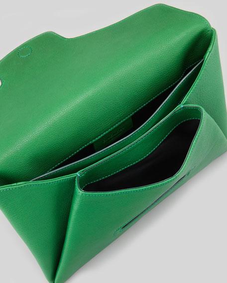 Antigona Sugar Envelope Clutch Bag, Emerald