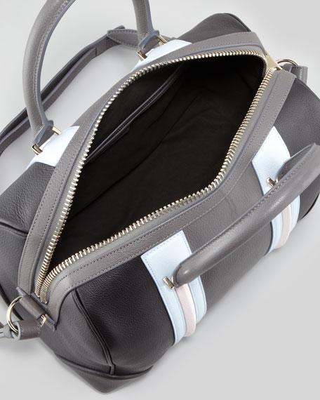 Lucrezia Sugar Satchel Bag, Gray Multi