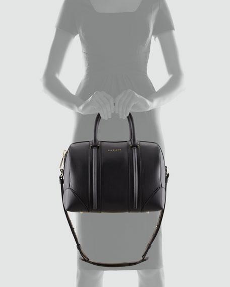 Lucrezia Medium Napa Duffel Bag, Black