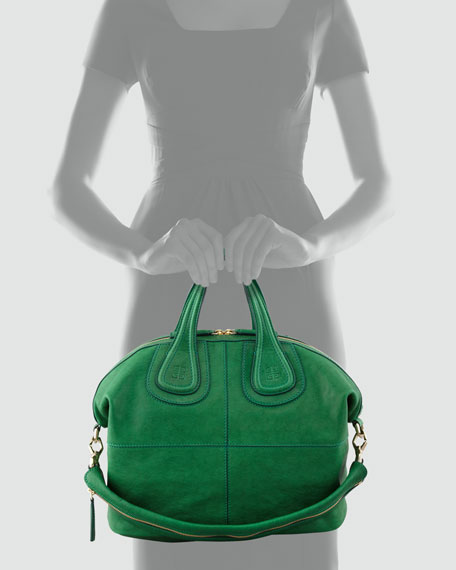 Nightingale Zanzi Medium Satchel Bag, Emerald
