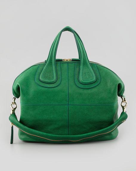 Nightingale Zanzi Medium Satchel Bag, Emerald
