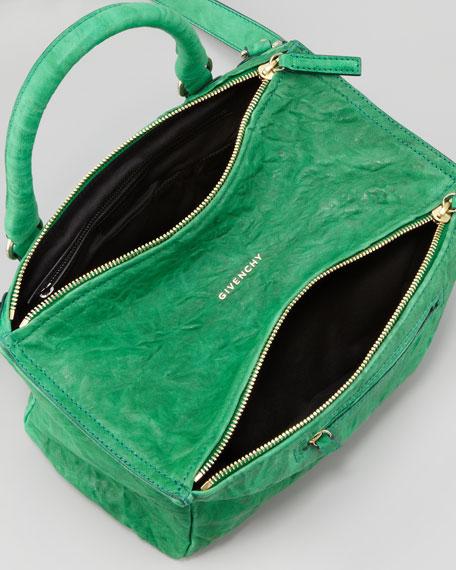 Pandora Medium Old Pepe Satchel Bag, Emerald