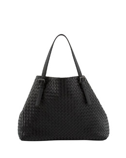 Bottega Veneta Large Double-Strap A-Shape Tote Bag, Dark Gray