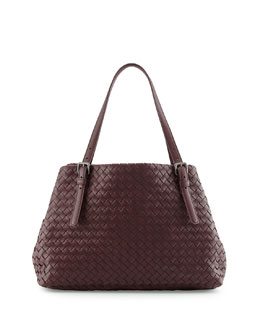Bottega Veneta Medium A-Shaped Tote Bag, Burgundy