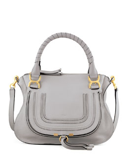 Marcie Satchel Bag, Light Gray