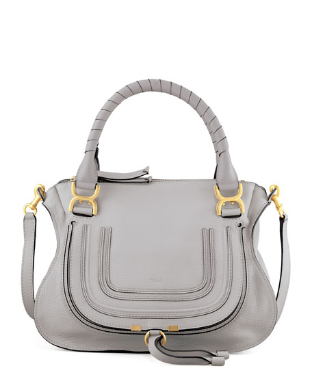 Chloe Marcie Satchel Bag, Light Gray