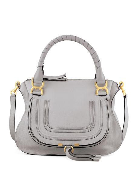 Marcie Satchel Bag, Light Gray