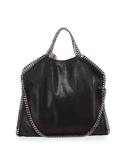 Falabella Fold-Over Bag, Black
