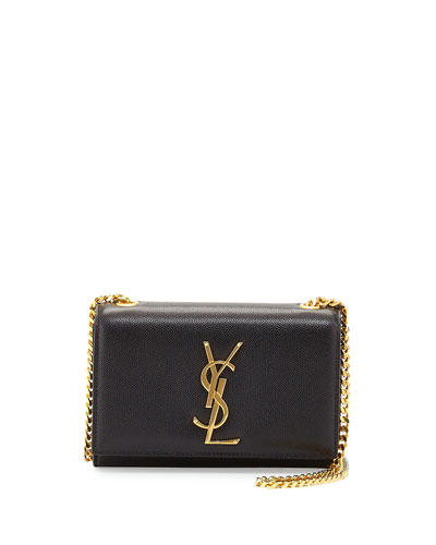 Monogram Flap Crossbody Bag, Black