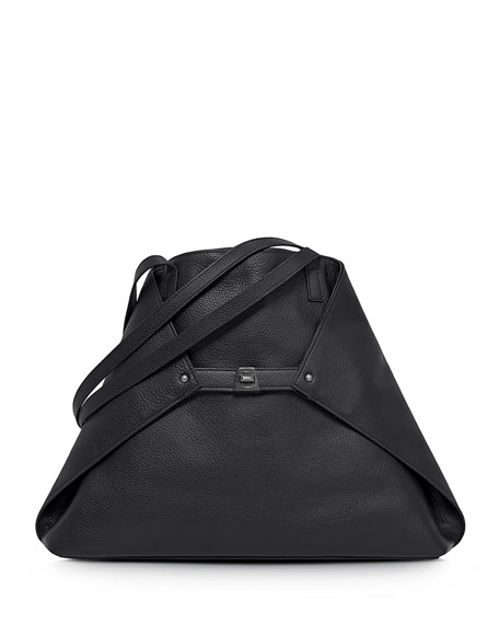 Akris Ai Medium Cervo Tote Bag, Black