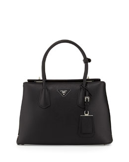 Saffiano Cuir Twin Bag, Black (Nero)