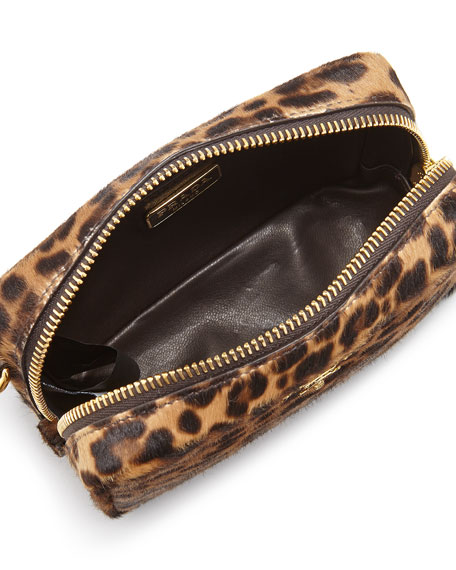 c9b96818c13d Prada Leopard-Print Calf Hair Mini Crossbody Bag
