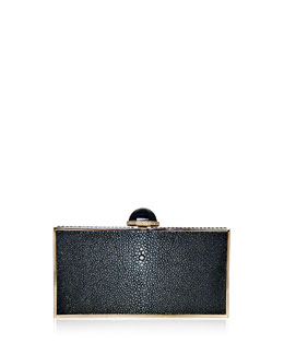 Perfect Rectangle Stingray Clutch Bag, Black