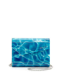Candy Pool Acrylic Crossbody Bag, Turquoise