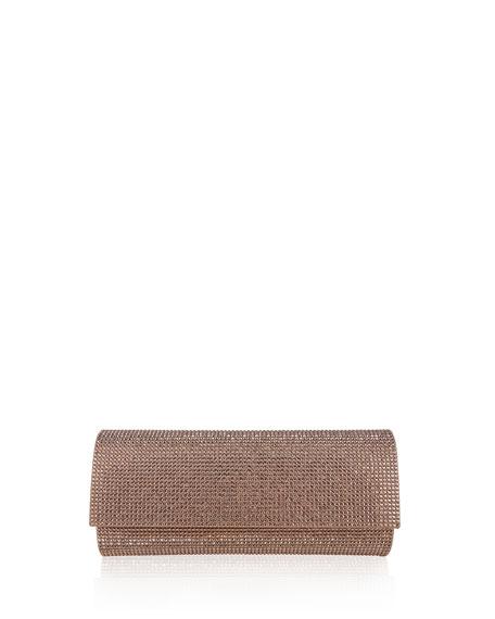 Ritz Fizz Crystal Clutch Bag, Rose Gold