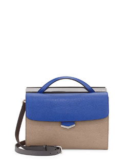 Demi-Jour Multicolor Satchel Bag, Blue/Gray/Blush/Brown