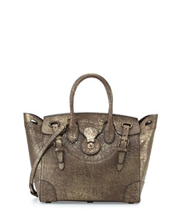 Soft Ricky 33 Vachetta Leather Satchel Bag, Gold