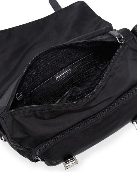 suede prada handbag - prada vela small double-pocket messenger bag, prada look alike ...