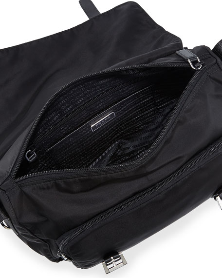 white prada handbags - prada vela small double-pocket messenger bag, prada look alike ...
