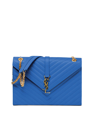 Monogram Matelasse Shoulder Bag, Royal
