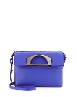 Passage Pebbled Leather Messenger Bag, Blue