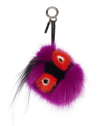 Fur Monster Charm for Handbag, Multi