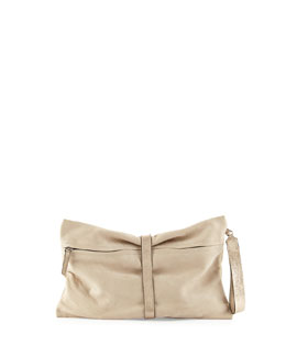 Suede Wrap Clutch