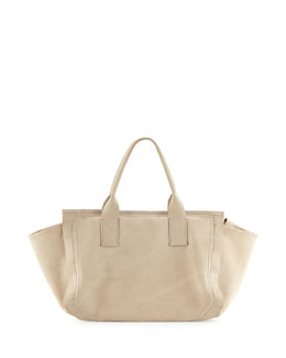Monili Suede Small Duffel Bag