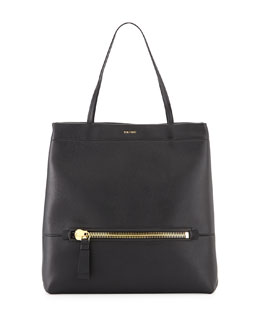 Leonica Leather Shopping Tote Bag