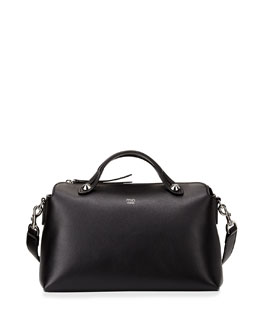 By The Way Leather Satchel Bag, Black