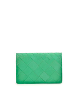 Intrecciato Medium Woven Clutch Bag