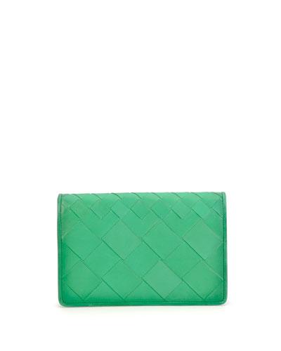 Intrecciato Medium Woven Clutch Bag