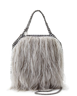 Falabella Long Curl Faux-Shearling Mini Tote Bag