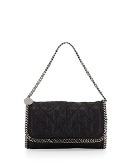 Falabella Quilted Shoulder Bag, Black