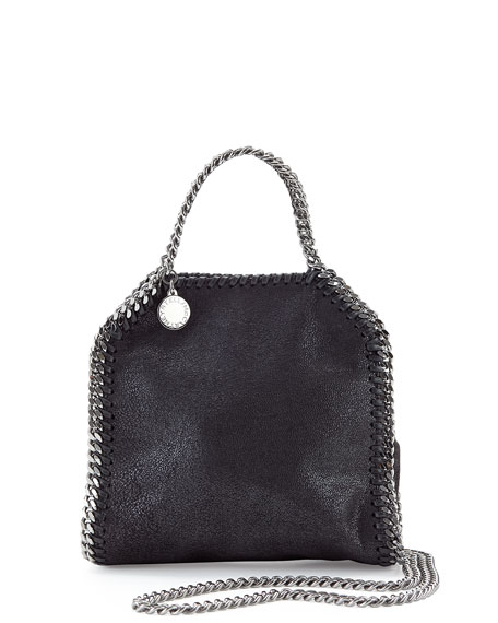Tiny Falabella Tote Bag, Black