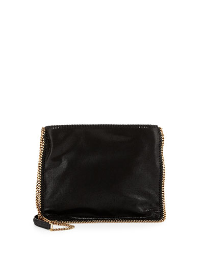 Falabella Medium Crossbody Bag, Black/Gold