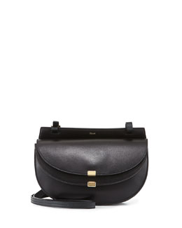 Georgia Small Leather Crossbody Bag, Black