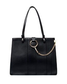 Faye Small Paneled Tote Bag