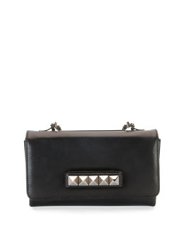 Va-Va-Voom Rockstud Shoulder Bag, Black