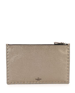 Rockstud Metallic Studded Zip Pouch