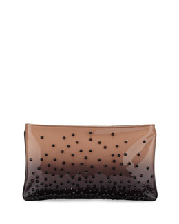 Loubiposh Degrade Spiked Clutch Bag