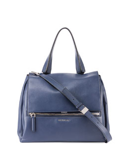 Pandora Medium Waxy Calf Bag, Blue