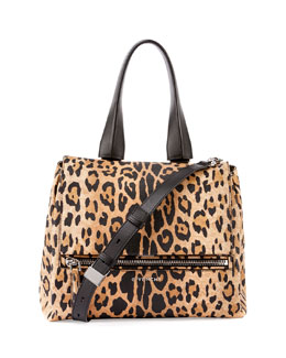 Pandora Pure Small Leopard-Print Satchel Bag