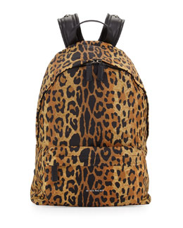 Antigona Nylon Backpack, Leopard Print