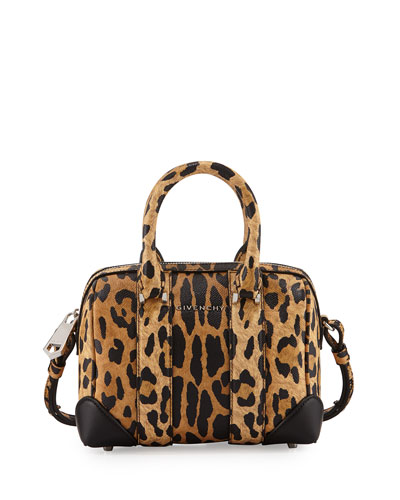 Lucrezia Micro Crossbody Bag, Leopard Print