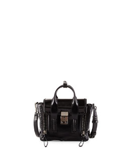 Pashli Mini Satchel Bag, Black